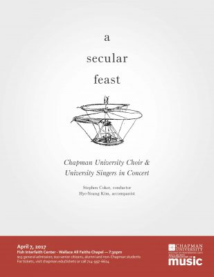 Chapman University Choir and University Singers in Concert