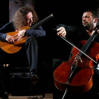 Boris Andrianov, cello, and Dimitri Illarionov, guitar