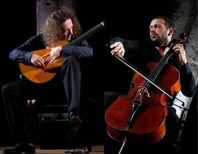 Boris Andrianov, cello, and Dimitri Illarionov, guitar