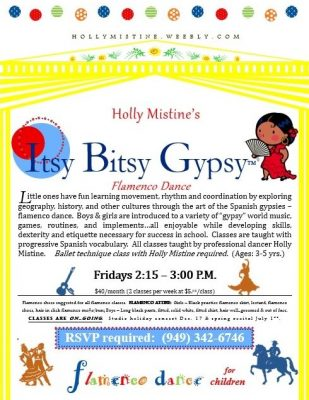 Holly Mistine's ITSY BITSY GYPSY™ Flamenco Dance Class (ages 3-5)
