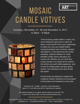Mosaic Candle Votives - Workshop