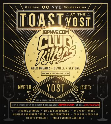 Toast at the Yost | New Years Eve with Club Killers