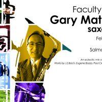 Faculty Recital: Gary Matsuura, saxophone