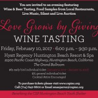 Love Grows by Giving, Wine Tasting Benefit
