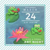 Kids Art Night -Painting, Sculpting, & Pizza