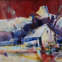 Watercolor Workshop: Barns and Shanties in Western Landscapes with Dan Dickman