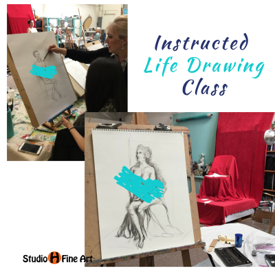 Figurative Life Drawing with Model Art Class
