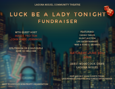 Luck Be A Lady Tonight Fundraiser