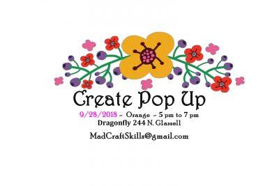 Create Pop Up OC 9/28 - Arts & Crafts night!