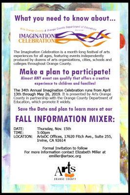 Imagination Celebration - Informational Mixer