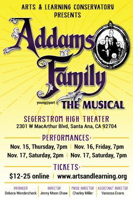 Arts & Learning Conservatory presents The Addams Family, The Musical