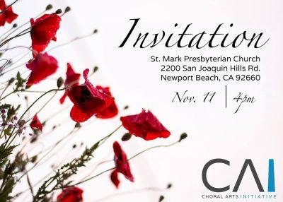 "Orange County's Best Choir Choral Arts Initiative Presents ""Invitation"""