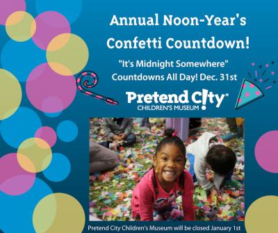 Annual Noon-Year's Confetti Countdown!