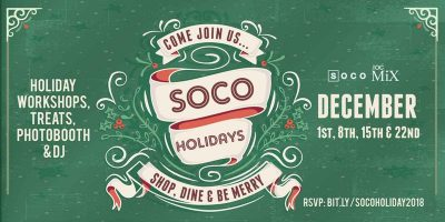 Saturday Holidays at SOCO + The OC Mix!