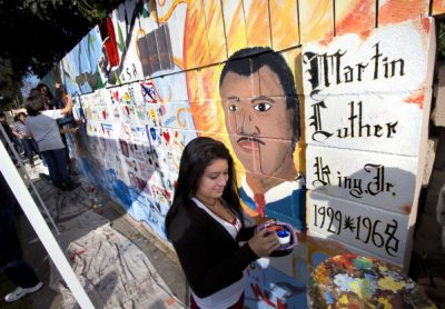 Martin Luther King Day of Service Mural