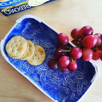 Sip and Make Printed Ceramic Tray