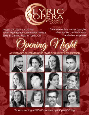 Opening Night for Lyric Opera of Orange County's 2...