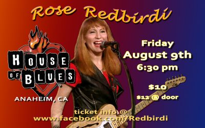 """The Bar Society Presents Rose Redbirdi at """"Local Vocals"""" The House of Blues Anaheim Foundation."""