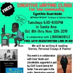 Creative Writing Class for the Community with Cynthia Guardado