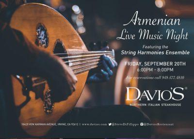 Armenian Music Night at Davio's Irvine