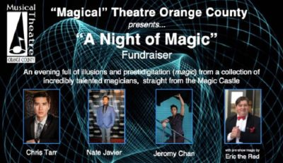 """Magical"" Theatre Orange County presents ""A Night of Magic"" Fundraiser"