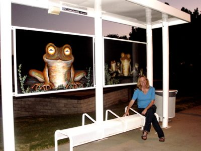 Mom Frog and Adoring Babies