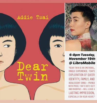 'Dear Twin' -  A conversation with debut author Addie Tsai & writer Rachel Will