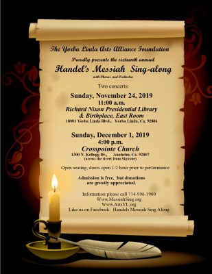 16th Annual Handel's Messiah Sing Along - Concert ...