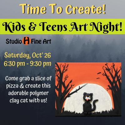 Kids & Teens Art Night, Saturday, October 26, ...