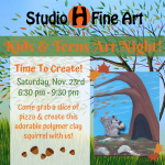 November 23rd Kids And Teens Art Night