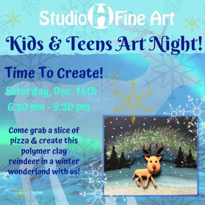 December Kids & Teens Art Night