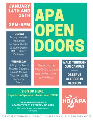 APA OPEN DOORS: A 2020 APA Open House Event