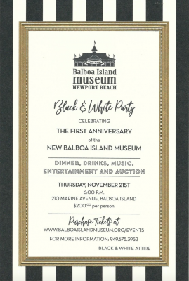 Black and White Party at The Balboa Island Museum