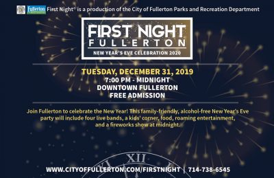 New Year's Eve @ Downtown Fullerton