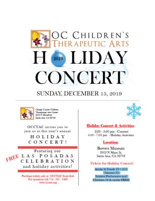 OCCTAC Holiday Concert and Las Posadas Celebration...