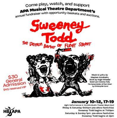 """HB APA's """"Sweeney Todd: The Demon Barber of Fleet ..."""