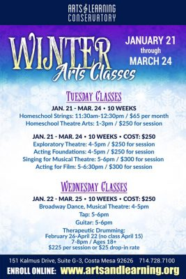 CANCELED:  Winter Arts Class @ Arts & Learning Conservatory