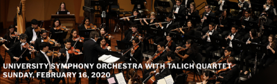 University Symphony Orchestra with Talich Quartet