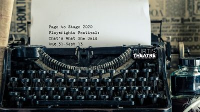 Call for Submissions: 2nd Annual Page to Stage Playwrights Festival