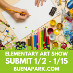 Buena Park K-6 Art Submissions Due January 15