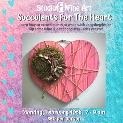 Succulents For The Heart Adult Workshop