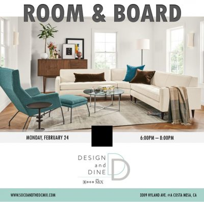 Design & Dine with Room & Board featuring a Colorful Q&A