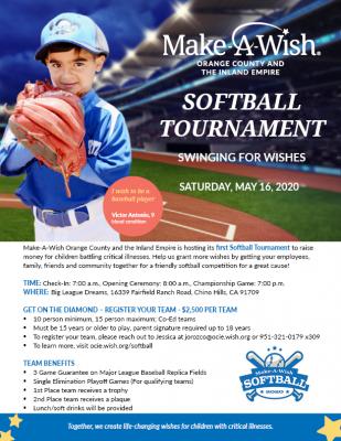 Make-A-Wish Softball Tournament