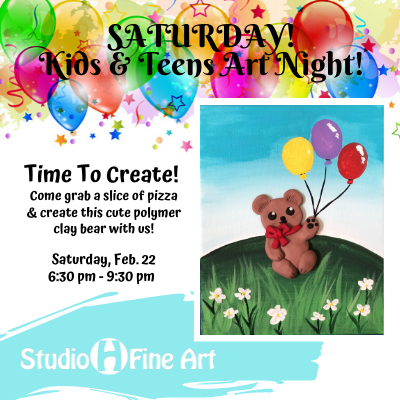 Kids & Teens Art Night @ Studio H