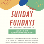 Sunday Fundays: Kid's Art Classes