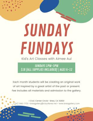 Sunday Fundays: Kid's Art Classes