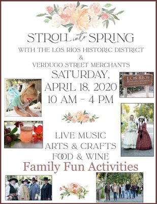 CANCELED:  Stroll into Spring @ Los Rios Historic District