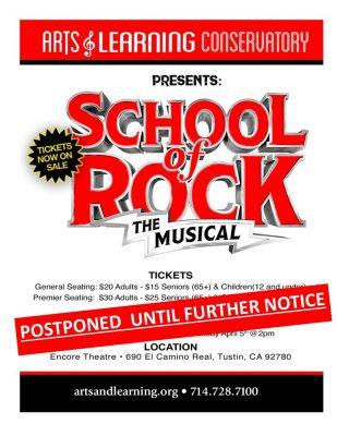 POSTPONED - School of Rock, The Musical
