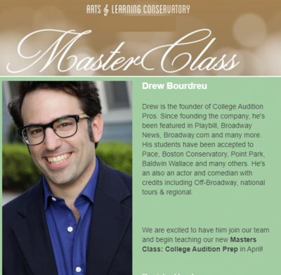 Virtual Master Class - College Audition Prep