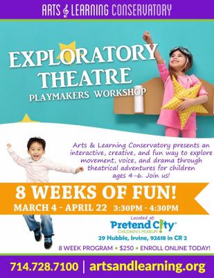 CANCELED:  Exploratory Theater for Kids!